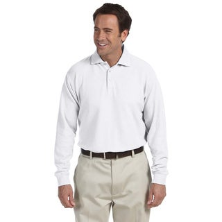 Men's Long-sleeve Performance Plus Pique Polo Shirt