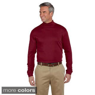 Men's Pima Cotton Long-sleeve Mock Neck