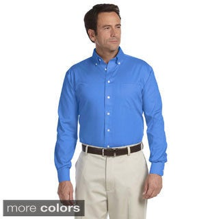 Men's Executive Performance Pinpoint Oxford Long-sleeve Shirt