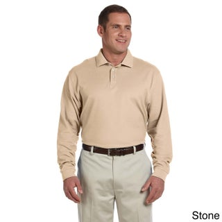 Men's Pima Pique Long-sleeve Polo Shirt (More options available)