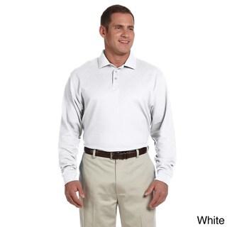 Men's Pima Pique Long-sleeve Polo Shirt