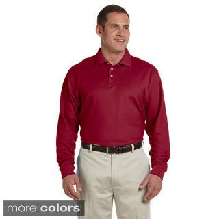 Men's Pima Pique Long-sleeve Polo Shirt