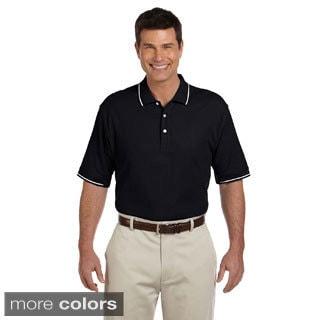 Men's Short-sleeve Pima Cotton Pique Tipped Polo
