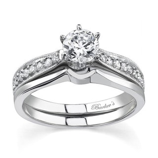 Barkev's Designer 14k White Gold Diamond Bridal Set (F-G, SI1-SI2)