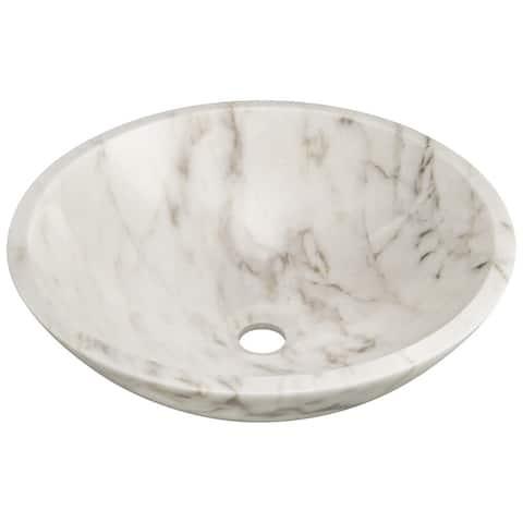 Polaris Sinks P058W White Granite Vessel Sink