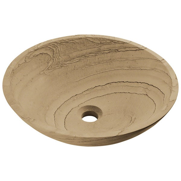 Polaris Sinks P258 Wood Sandstone Vessel Stone Sink