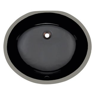 Polaris Sinks PUPMBL Black Porcelain Bathroom Sink