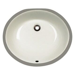 Polaris Sinks PUPMB Bisque Porcelain Bathroom Sink