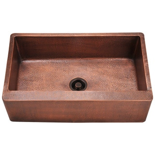 Polaris Sinks P319 Single Bowl Copper Apron Sink
