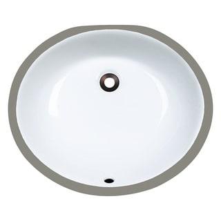 Polaris Sinks PUPMW White Porcelain Bathroom Sink