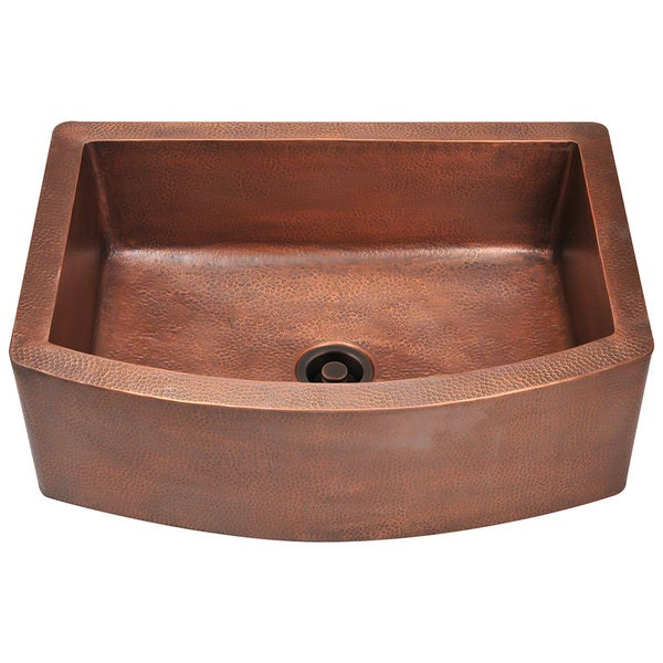 Copper Bowl Sink : ... Handmade Copper Sink 33 in. Single Bowl Kitchen Sink in Antique Copper
