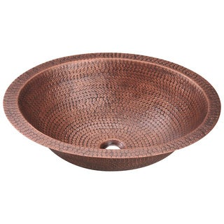 Polaris Sinks P019 Single Bowl Oval Copper Sink