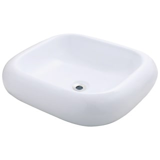 Polaris Sinks P001VW White Pillow Top Porcelain Vessel Sink