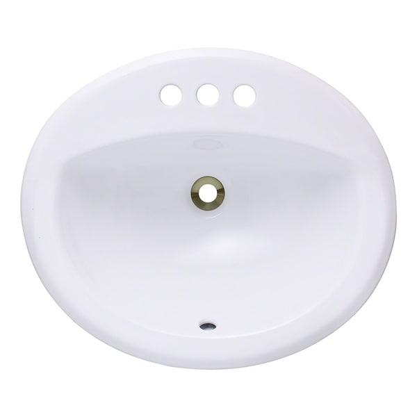 Polaris Sinks P8102OW White Overmount Bathroom Sink