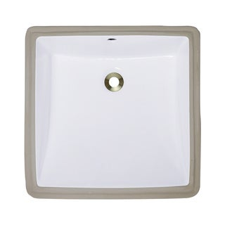 Polaris Sinks P0322UW White Undermount Porcelain Bathroom Sink