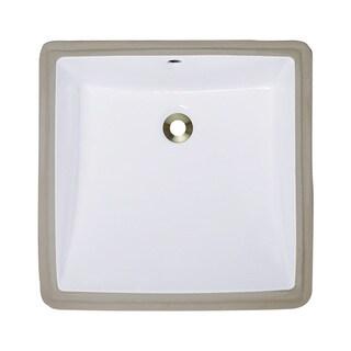 Polaris Sinks P0322UW White Undermount Porcelain Bathroom Sink