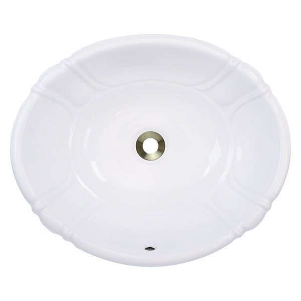 Polaris Sinks P5181ow White Porcelain Vessel Drop In Bathroom Vanity Sink Free Shipping