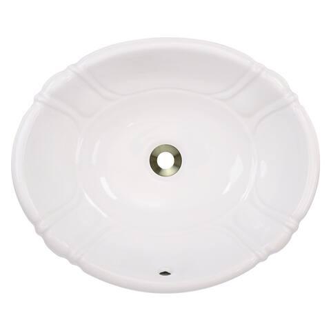 Polaris Sinks P5181OB Bisque Porcelain Vessel / Drop-In Bathroom Vanity Sink