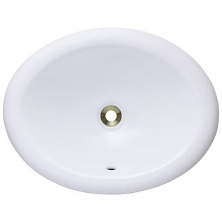 Polaris Sinks P7191OW White Overmount Porcelain Vanity Bowl