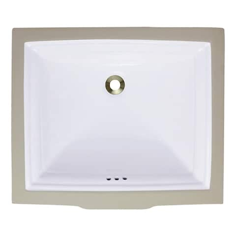 Polaris Sinks P0542UW White Undermount Rectangular Porcelain Sink