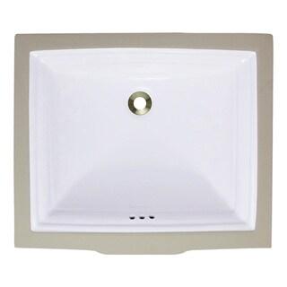 Polaris Sinks P0542UW White Undermount Rectangular Porcelain Sink