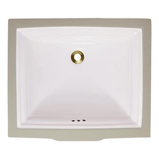 Polaris Sinks P0542UB Bisque Undermount Rectangular Porcelain Sink