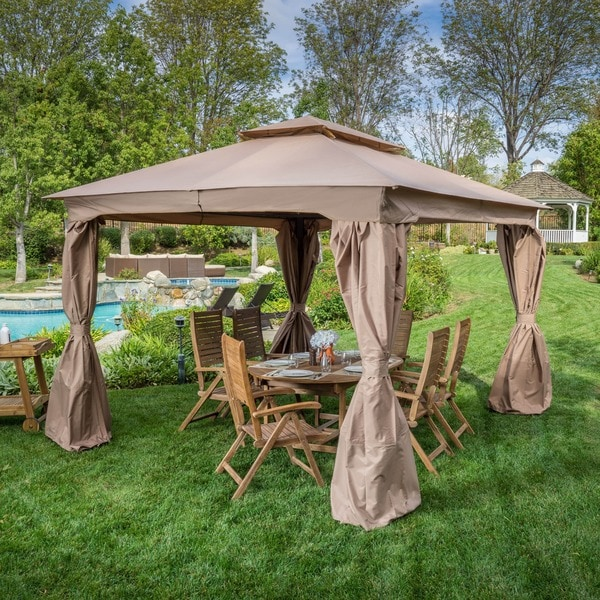Topeka Nutmeg Gazebo by Christopher Knight Home