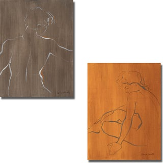 Lanie Loreth 'Standing Male Figure and Seated Female Figure' 2-piece Canvas Set