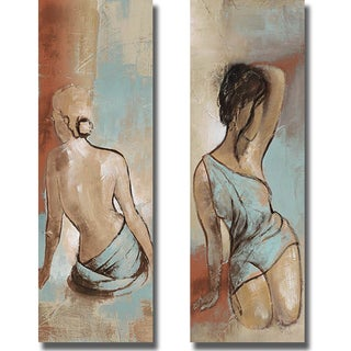 Patricia Pinto 'Seated Woman Panel I and II' 2-piece Canvas Set