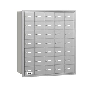 Salsbury 3600 Series Aluminum 4B+ Horizontal Mailboxes with 35 A Doors