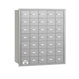 Salsbury 3600 Series Aluminum 4B+ Horizontal Mailboxes with 35 A Doors