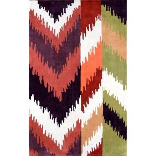 nuLOOM Hand-tufted Ikat Multi Rug (7'6 x 9'6 )