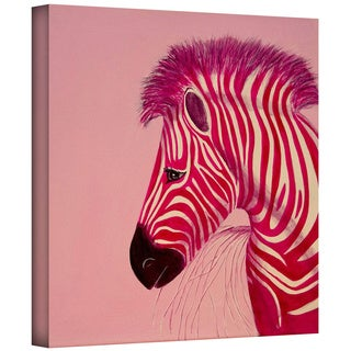 Lindsey Janich 'Pink Zebra' Gallery-Wrapped Canvas