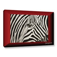 Lindsey Janich 'Zebras Abstract' Gallery-Wrapped Canvas