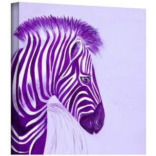 Lindsey Janich 'Zebras Purple' Gallery-Wrapped Canvas