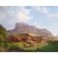 Utopia' Oil on Canvas Art - Multi