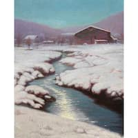 Snow Creek' Oil on Canvas Art - Multi