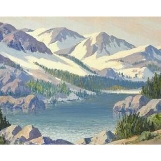 Mountain Lake' Oil on Canvas Art - Multi