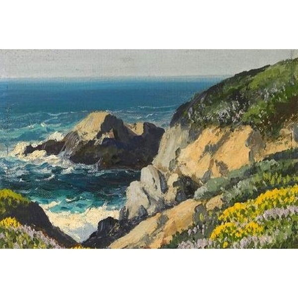 Big Sur' Oil on Canvas Art