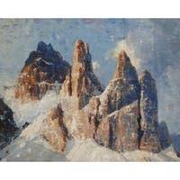 Needle Mountain' Oil on Canvas Art - Multi