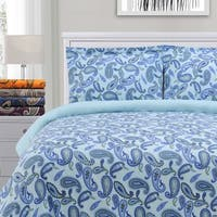 Superior Paisley Reversible Cotton Flannel Duvet Cover Set