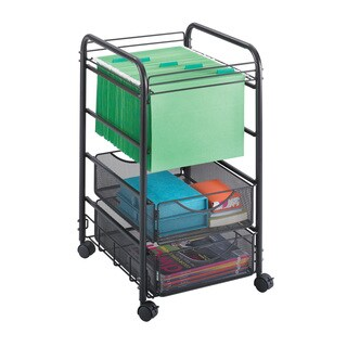 Safco Onyx Mesh 2-drawer Open File Cart