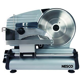 Nesco FS-250 Silver Stainless Steel/Aluminum Everyday Food Slicer with 8.7-inch Serrated Blade