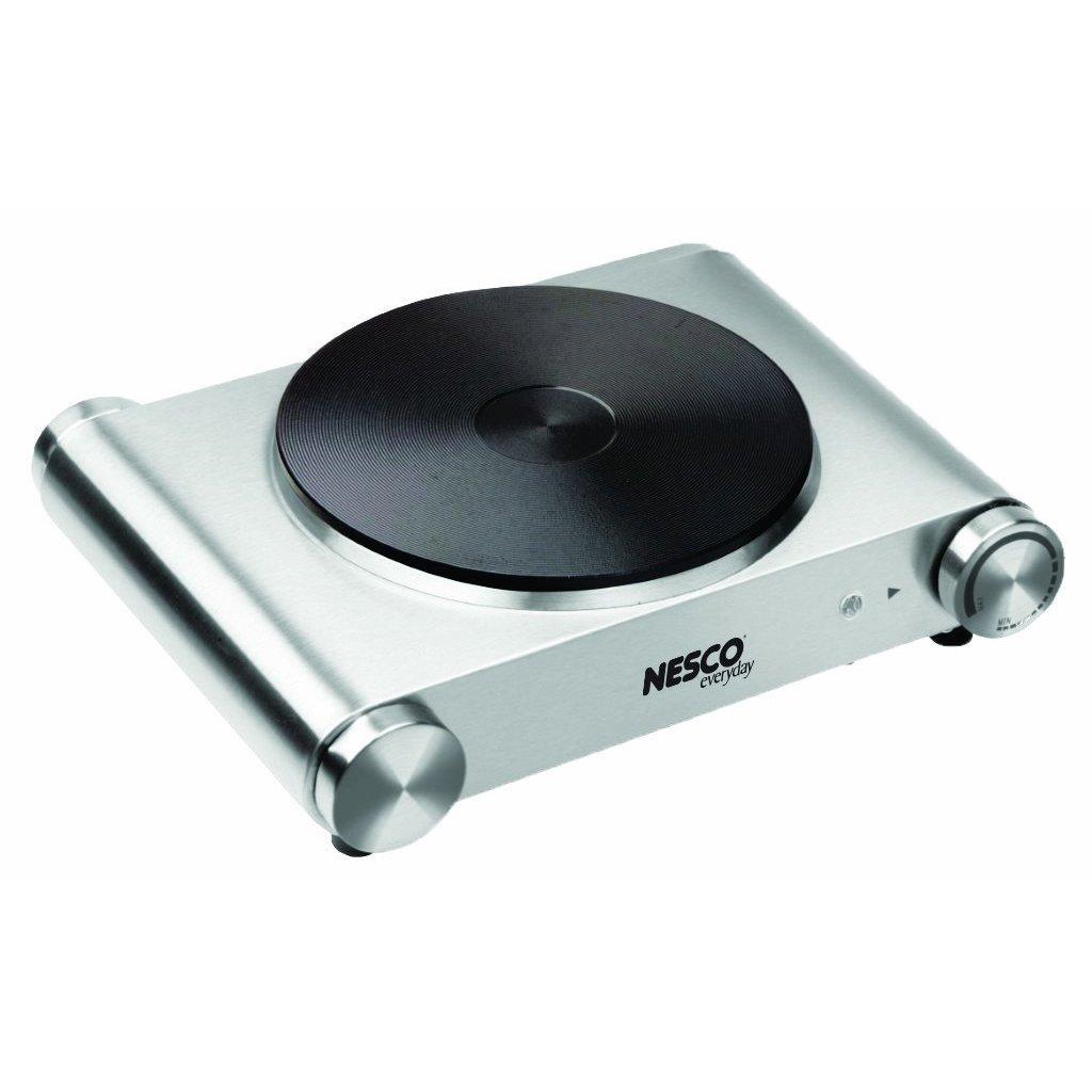 Nesco SB-01 1500-watt Single Electric Ceramic Burner, Sil...