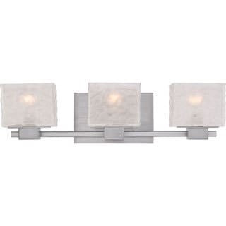 Quoizel Melody Brushed Nickel Finish 3-light Bath Fixture