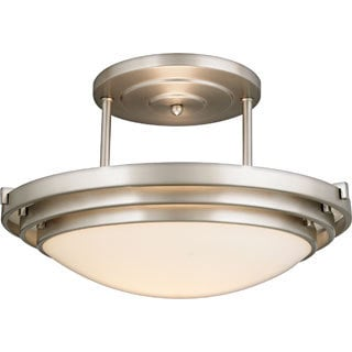 Electra Brushed Chrome Finish Medium Semi Flush Mount