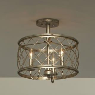 Quoizel Dury Century Silver Leaf Finish Medium Semi Flush Mount Light Fixture https://ak1.ostkcdn.com/images/products/9008746/P16211468.jpg?impolicy=medium
