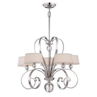 Quoizel Uptown Madison Manor 5-light Imperial Silver Finish Chandelier