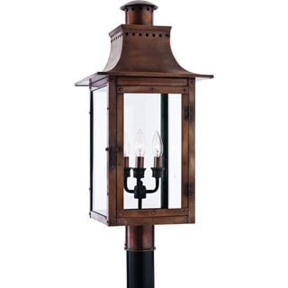 Chalmers 3-light Aged Copper Finish Post Lantern