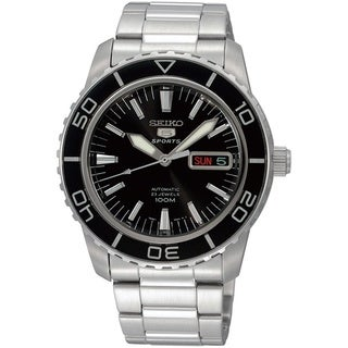 Seiko Men's SNZH55K1 5 Sports Silvertone Watch